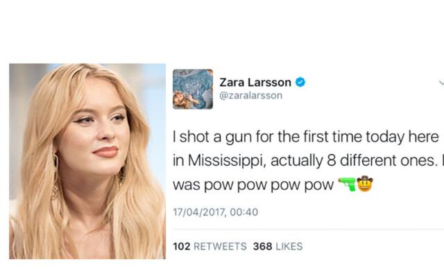 Zara Larsson Beklaget Twitter Melding Etter Facebook Drap Herregud